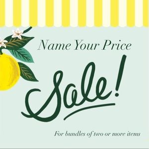 Name Your Price Sale! Bundles of 2+ Items